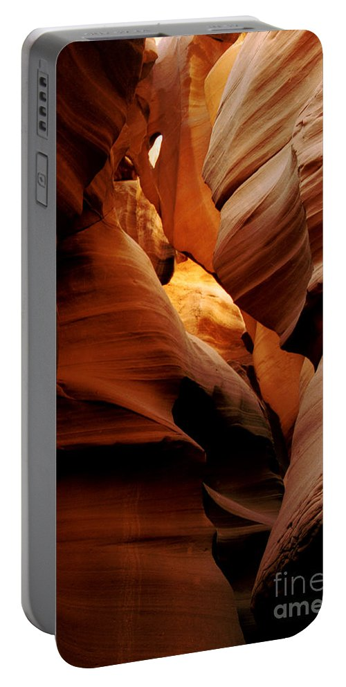 Antelope Canyon Portable Battery Charger featuring the photograph Convolusions by Kathy McClure