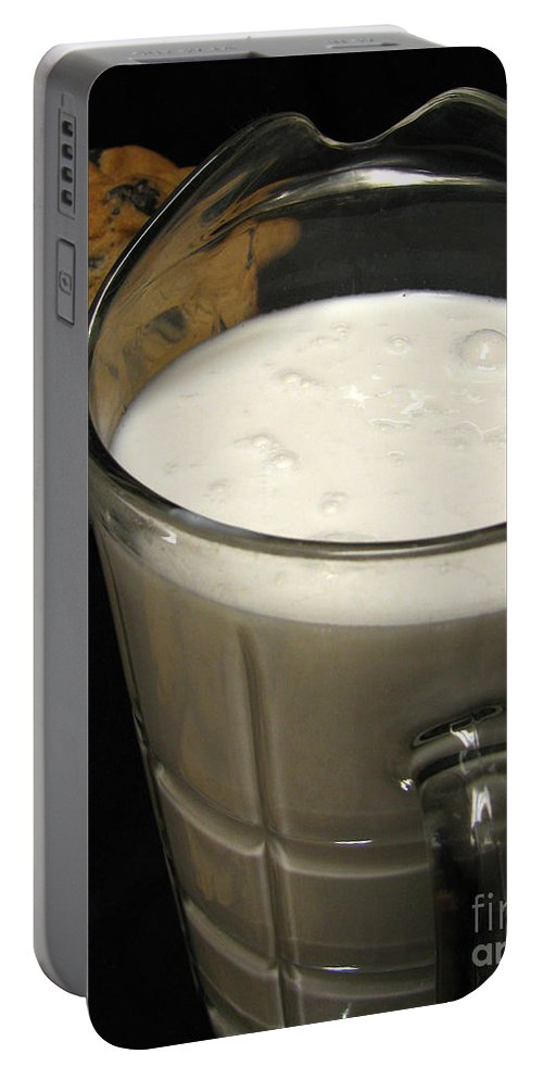 Cookies And Milk Portable Battery Charger featuring the photograph Cookies And Milk by Peter Piatt