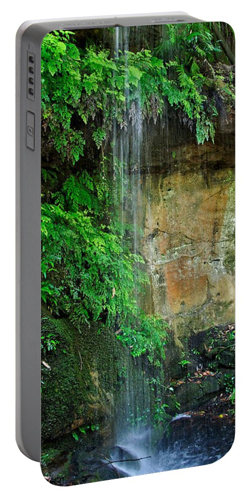 Photography Portable Battery Charger featuring the photograph Cool And Refreshing by Kaye Menner