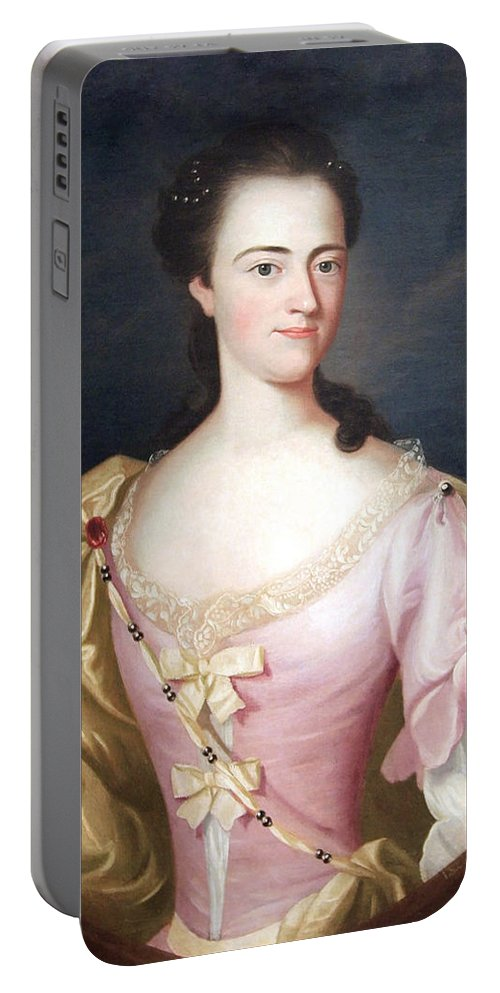 Jane Browne Portable Battery Charger featuring the photograph Copley's Jane Browne -- Mrs. Samuel Livermore by Cora Wandel