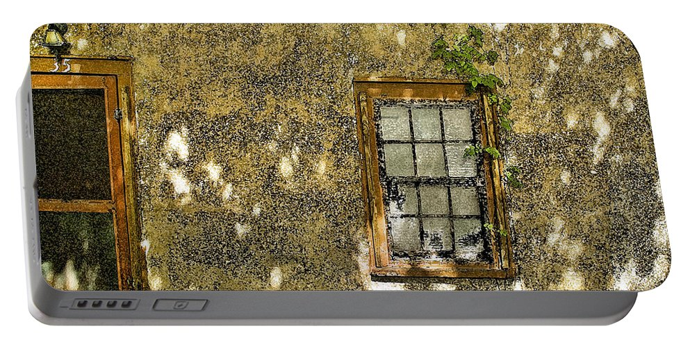 Coquina Portable Battery Charger featuring the photograph Coquina Door And Window Db by Rich Franco