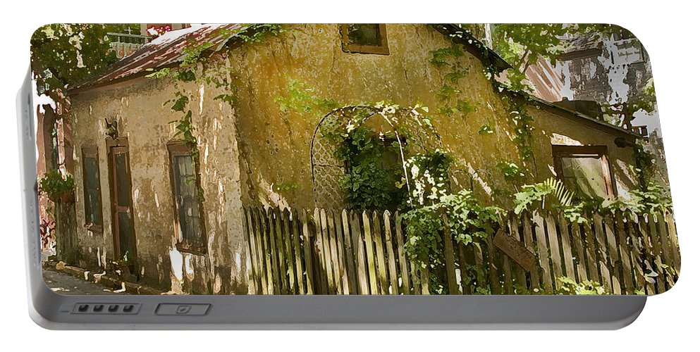 Coquina Portable Battery Charger featuring the photograph Coquina House by Rich Franco