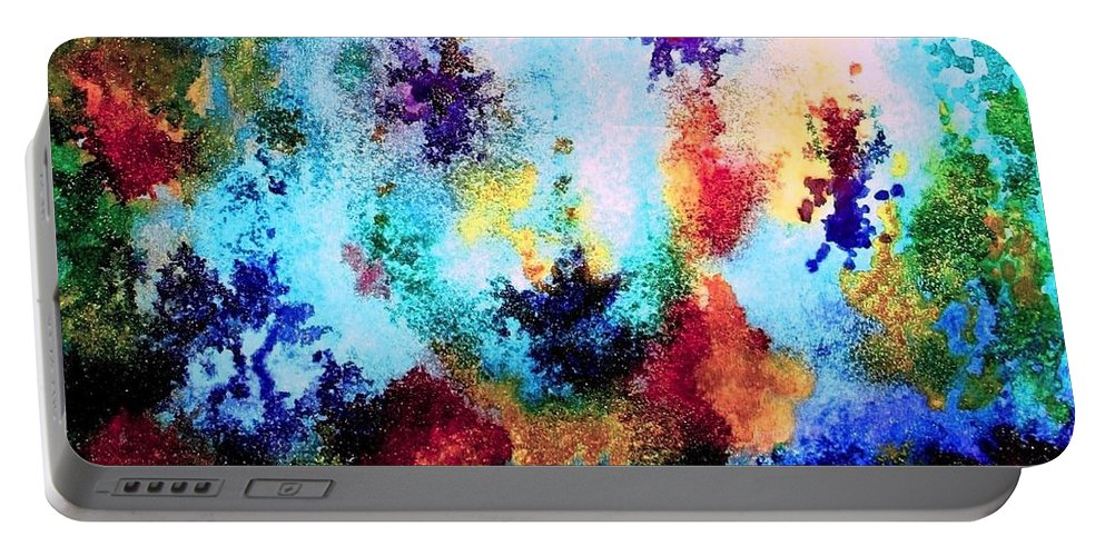 Coral Reef Portable Battery Charger featuring the painting Coral Reef Impression 14 by Hazel Holland