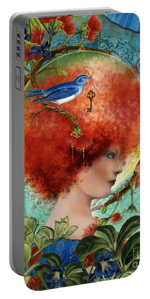 Portrait Portable Battery Charger featuring the digital art Cordelia by Aimee Stewart