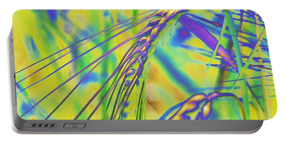 Corn Portable Battery Charger featuring the digital art Corn by Carol Lynch