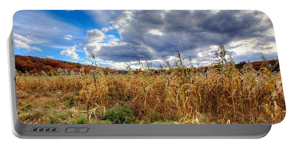 Corn Field Portable Battery Charger featuring the photograph Corn Field by Stas Burdan