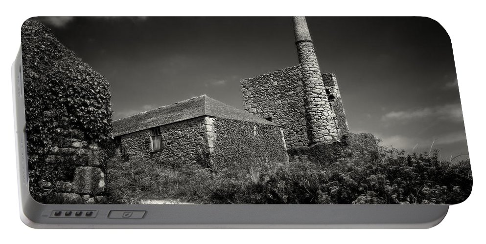 Cornwall Portable Battery Charger featuring the photograph Cornish Tin Mine. by David Hare