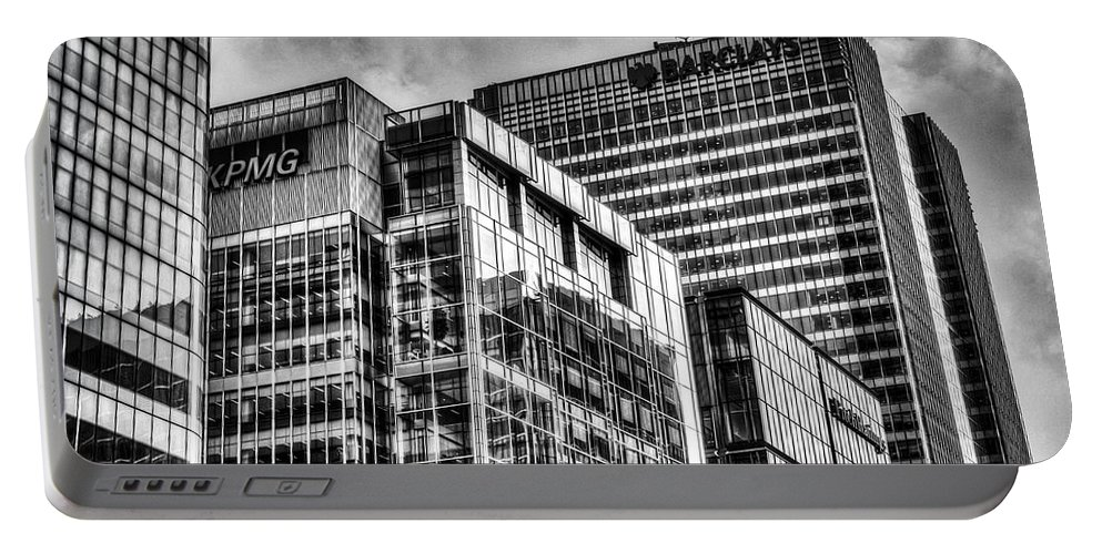 Barclays Portable Battery Charger featuring the photograph Corporate London by David Pyatt