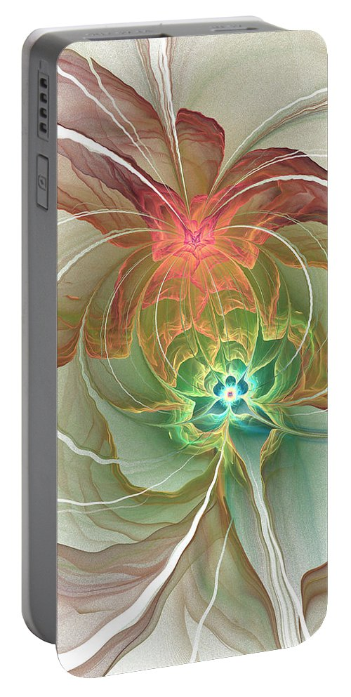 Corsage Portable Battery Charger featuring the digital art Corsage by Kiki Art