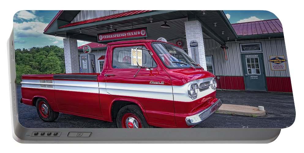 Chevrolet Corvair 95 Rampside Portable Battery Charger featuring the photograph Corvair 95 Rampside by David B Kawchak Custom Classic Photography