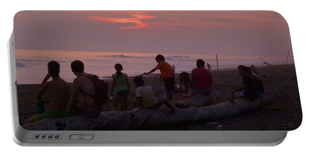 Beach Portable Battery Charger featuring the photograph Costa Rica Sunset by Jennifer Ann Henry