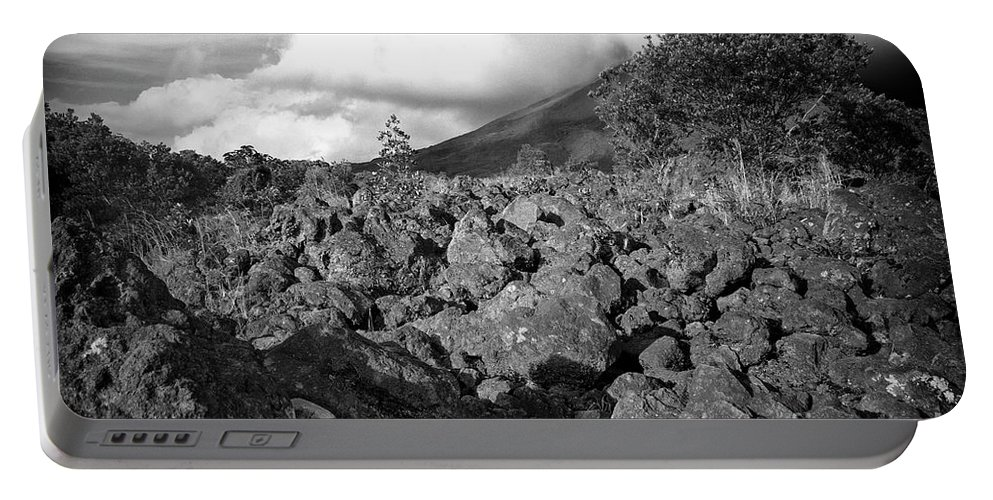 Volcano Portable Battery Charger featuring the photograph Costa Rican Volcanic Rock by Madeline Ellis