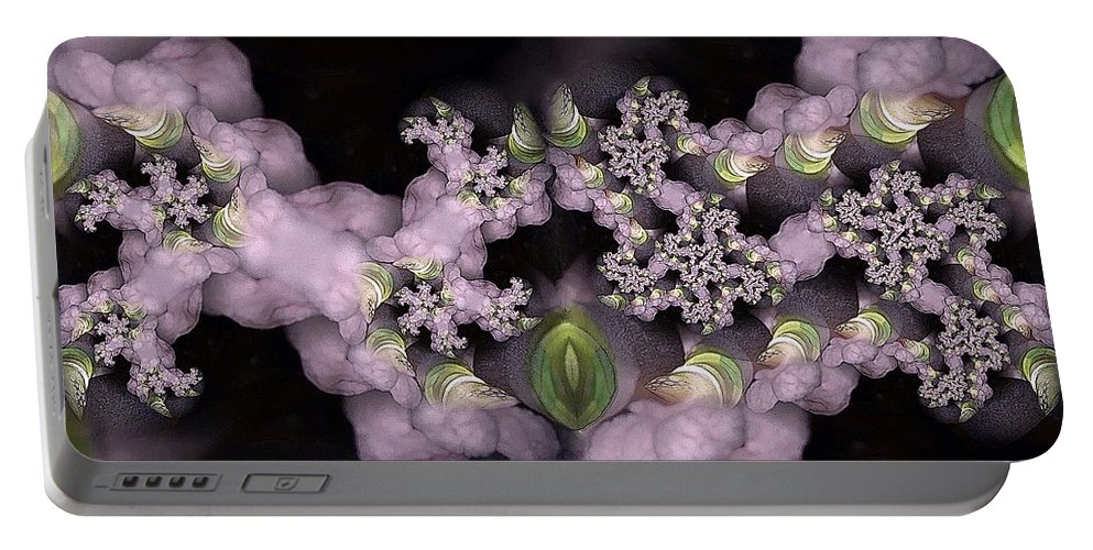 Collage Portable Battery Charger featuring the digital art Cotten Tail by Ron Bissett