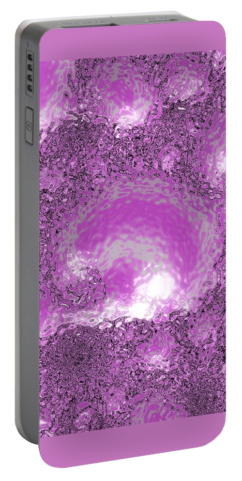 abstract Art fractal Art Abstract girl's Fashion women's Fashion Abstract Portable Battery Charger featuring the photograph Cotton Candy by Bill Owen