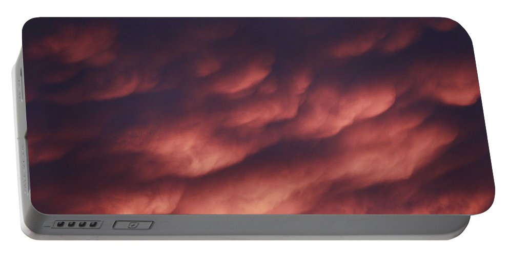 Scenic Portable Battery Charger featuring the photograph Cotton Candy Clouds by Phyllis Bradd
