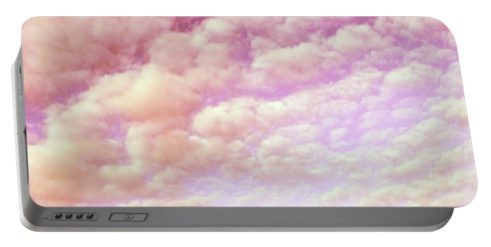 Cotton Candy Portable Battery Charger featuring the photograph Cotton Candy Sky by Marianna Mills