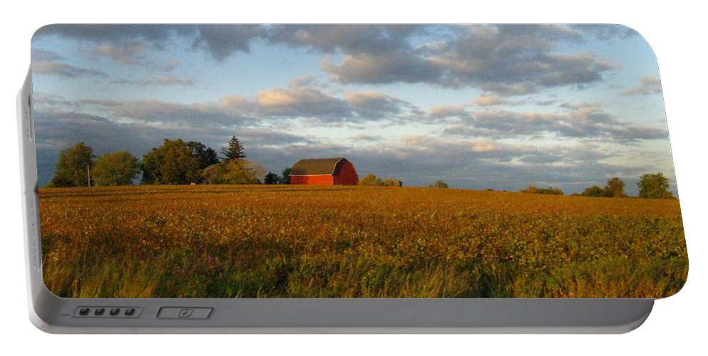 Landscape Portable Battery Charger featuring the photograph Country Backroad by Rhonda Barrett