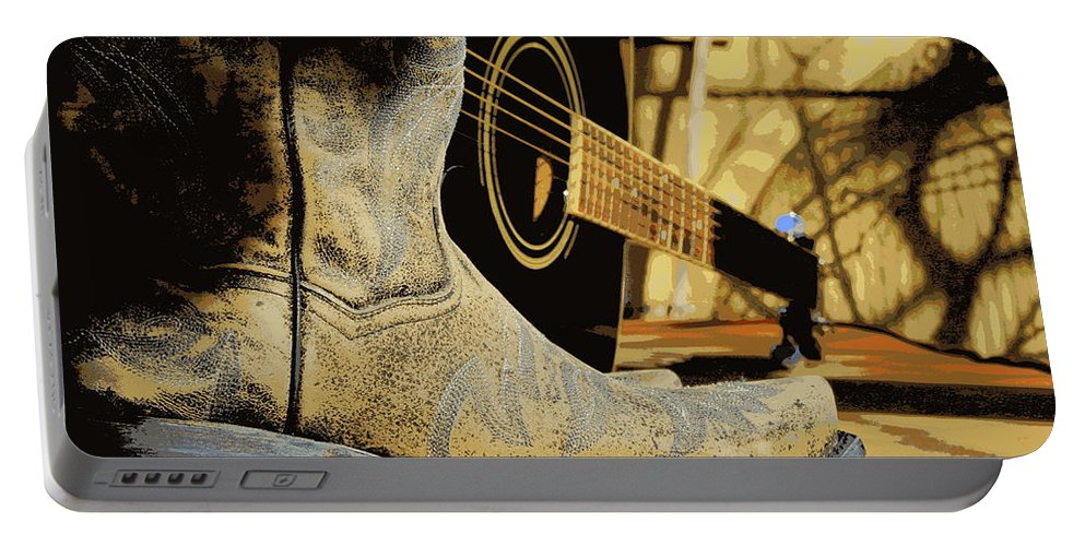 Cowboy Boots Portable Battery Charger featuring the photograph Country Blues by Kip Krause