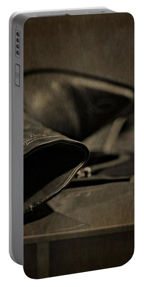 Cowgirl Boots And Country Music Portable Battery Charger featuring the photograph Country Boots And Guitar by Dan Sproul
