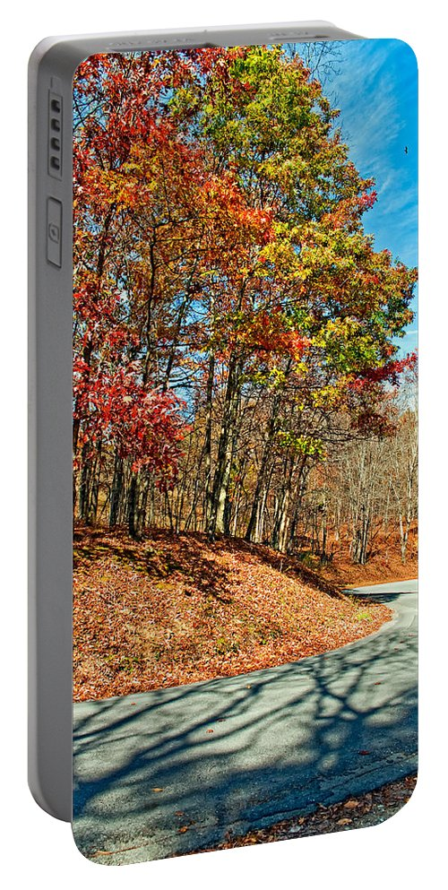 West Virginia Portable Battery Charger featuring the photograph Country Curves And Vultures by Steve Harrington