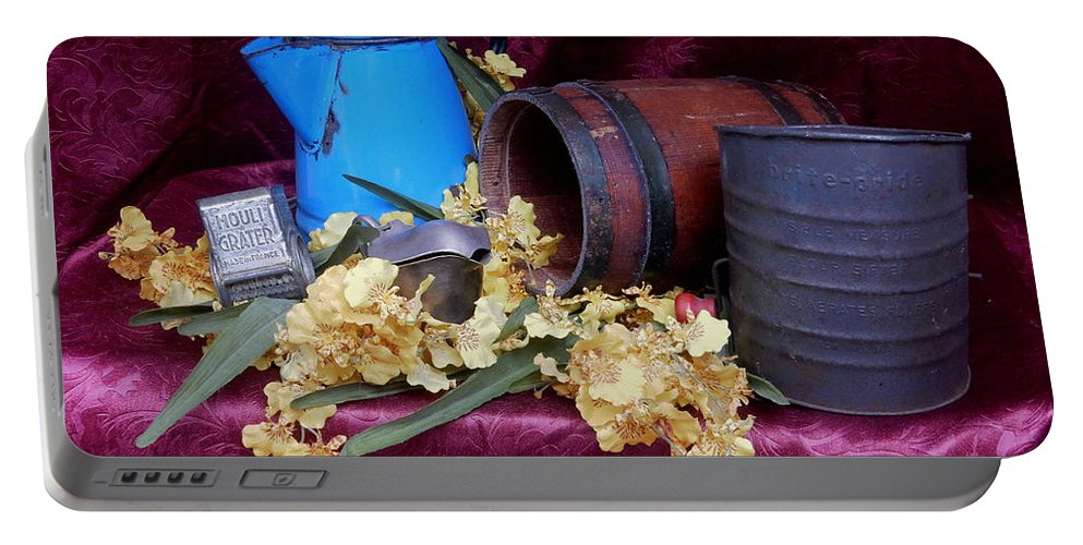 Still Life Portable Battery Charger featuring the photograph Country Life by Pamela Walton
