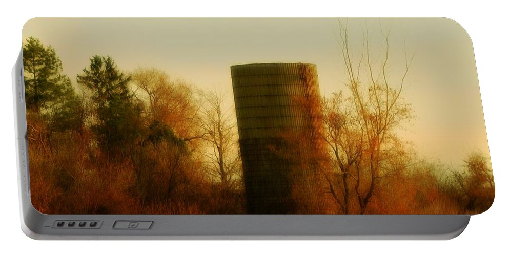 Country Morning Portable Battery Charger featuring the photograph Country Morning by Gothicrow Images