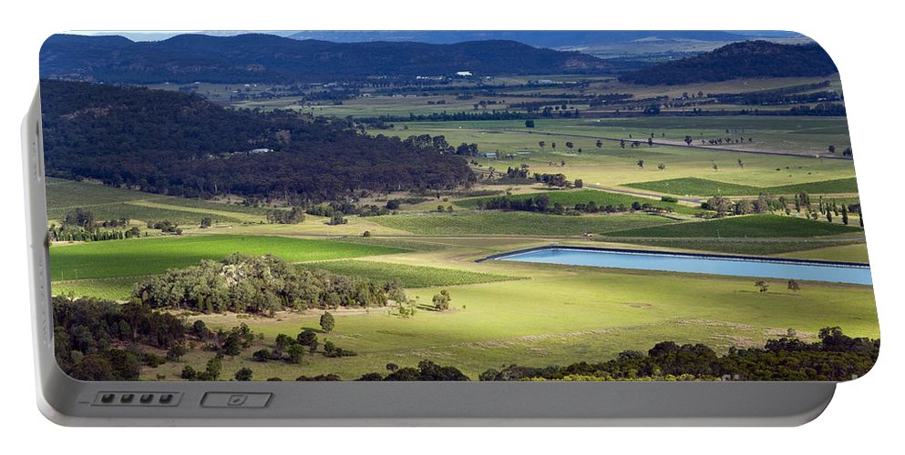 Above Portable Battery Charger featuring the photograph Country Scenic by Tim Hester