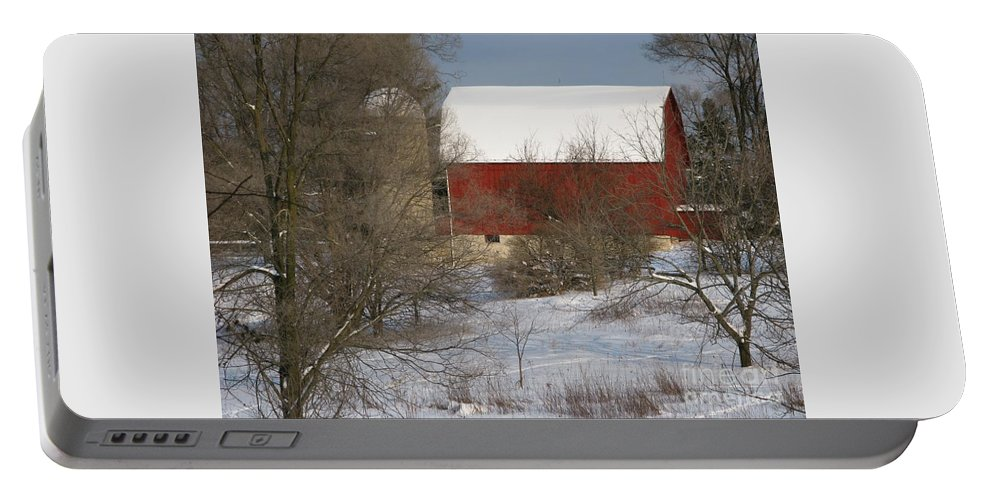 Winter Portable Battery Charger featuring the photograph Country Winter by Ann Horn