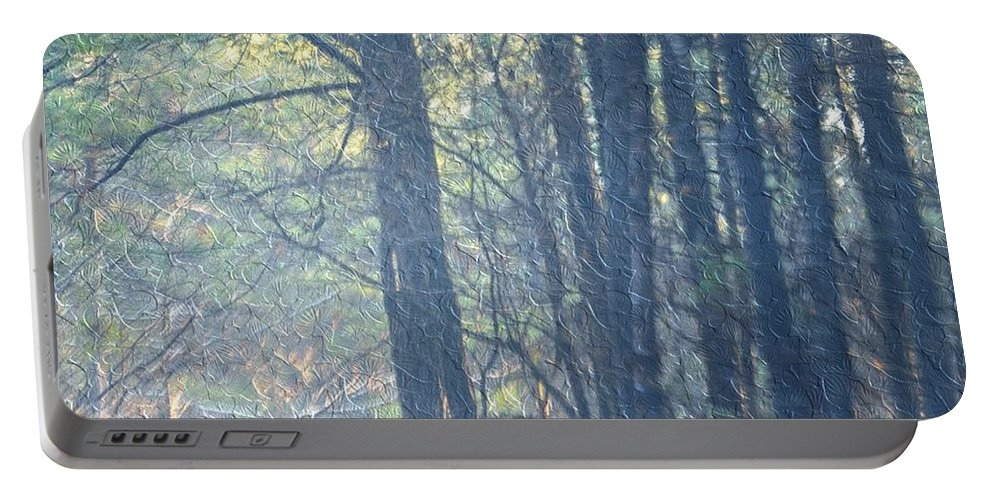 Country Woodlands Portable Battery Charger featuring the photograph Country Woodlands by Maria Urso