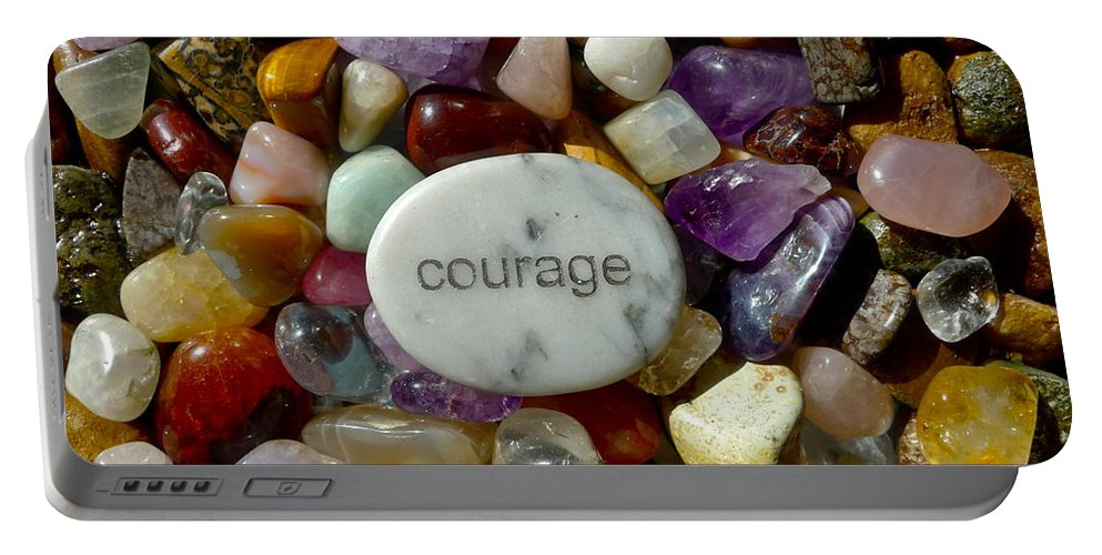 Courage Portable Battery Charger featuring the photograph Courage by Denise Mazzocco