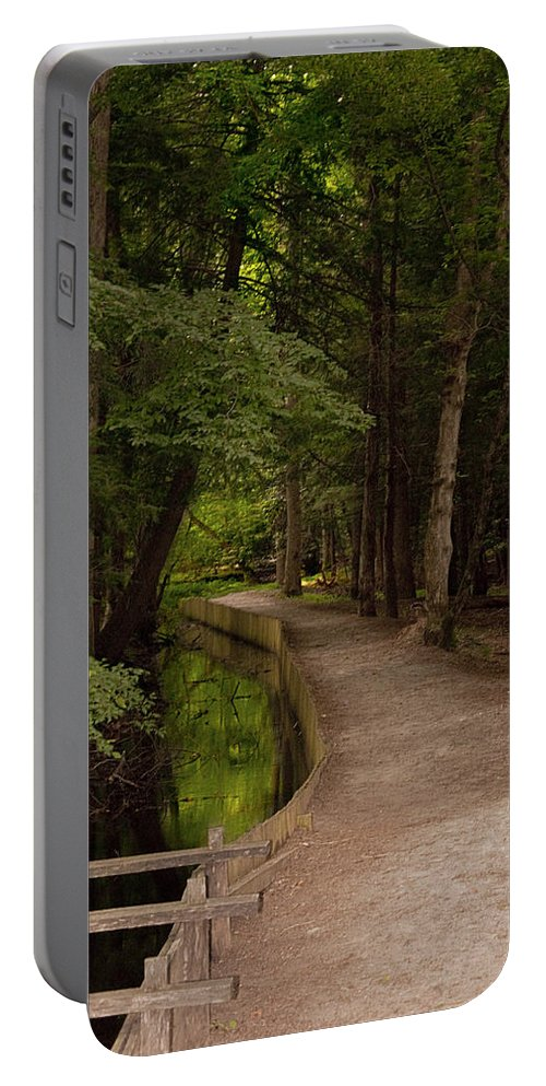 Cades Cove Portable Battery Charger featuring the photograph Cove Path by Terry Anderson