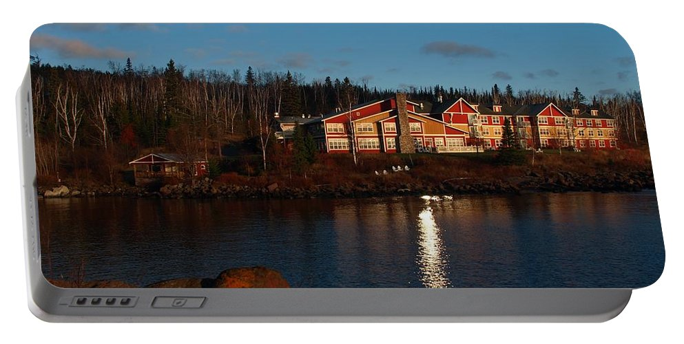 Peterson Portable Battery Charger featuring the photograph Cove Point Lodge by James Peterson