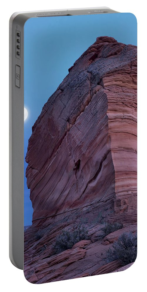 Arizona Portable Battery Charger featuring the photograph Coyote Buttes Moonrise by Leland D Howard