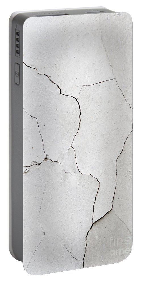 Wall Portable Battery Charger featuring the photograph Cracked Stucco by Michal Boubin