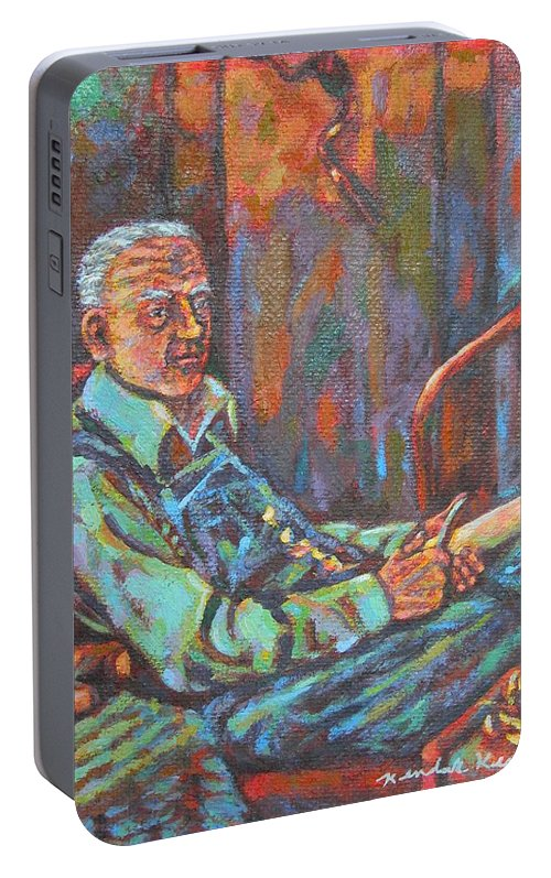 Craftsman Portable Battery Charger featuring the painting Craftsman by Kendall Kessler