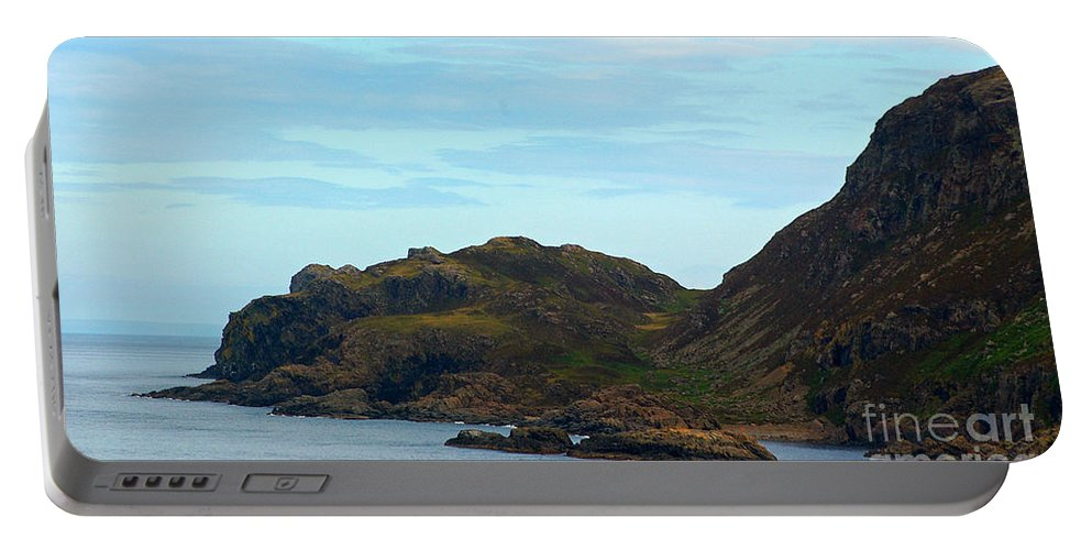 Scotland Portable Battery Charger featuring the photograph Craggy Coast 1 by Nancy L Marshall