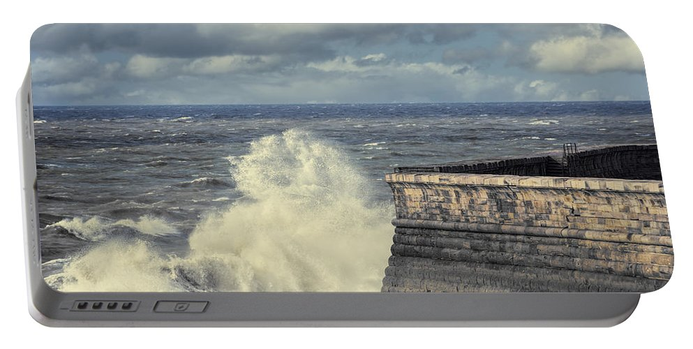 Whitehaven Portable Battery Charger featuring the photograph Crashing Waves by Amanda Elwell