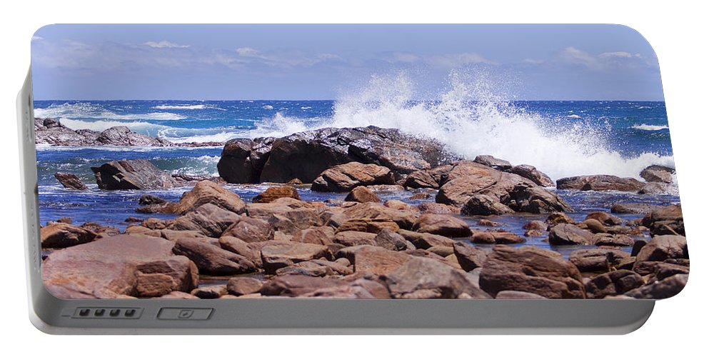 Waves Portable Battery Charger featuring the photograph Crashing Waves by Michelle Wrighton