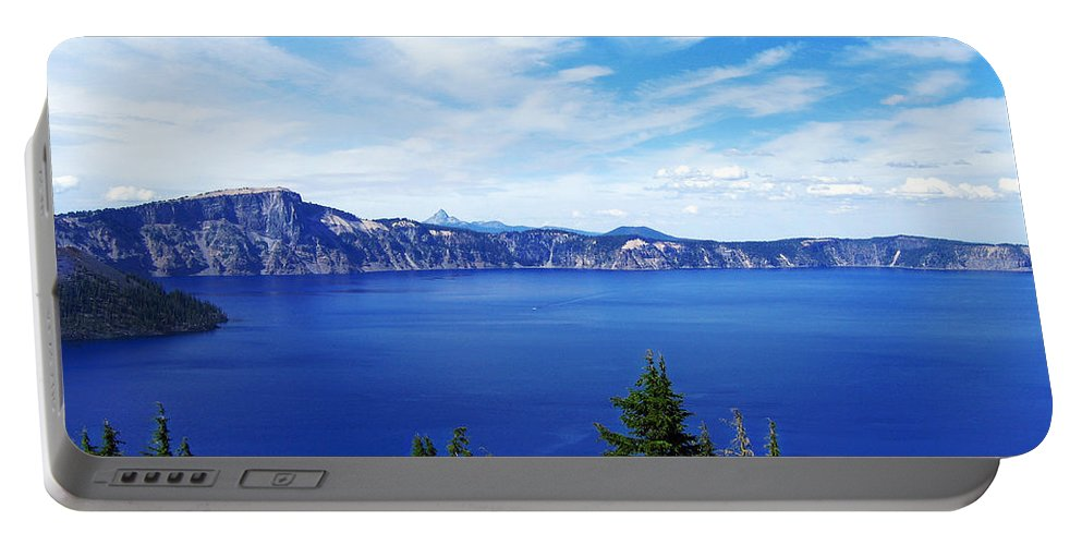 Photograph Portable Battery Charger featuring the photograph Crater Lake by Kathy Moll