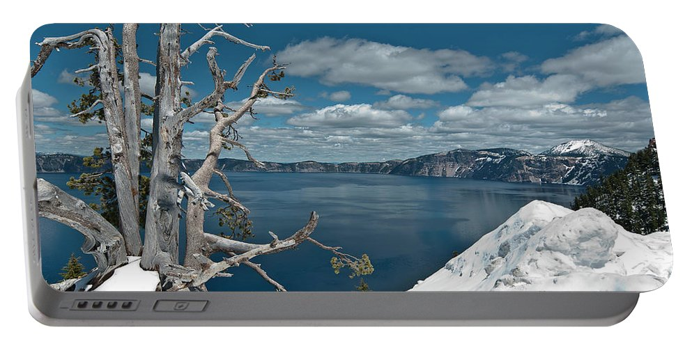 Crater Lake Portable Battery Charger featuring the photograph Crater Lake Tree by Greg Nyquist
