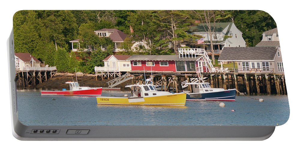 Boat Portable Battery Charger featuring the photograph Crayon Box 1381 by Guy Whiteley