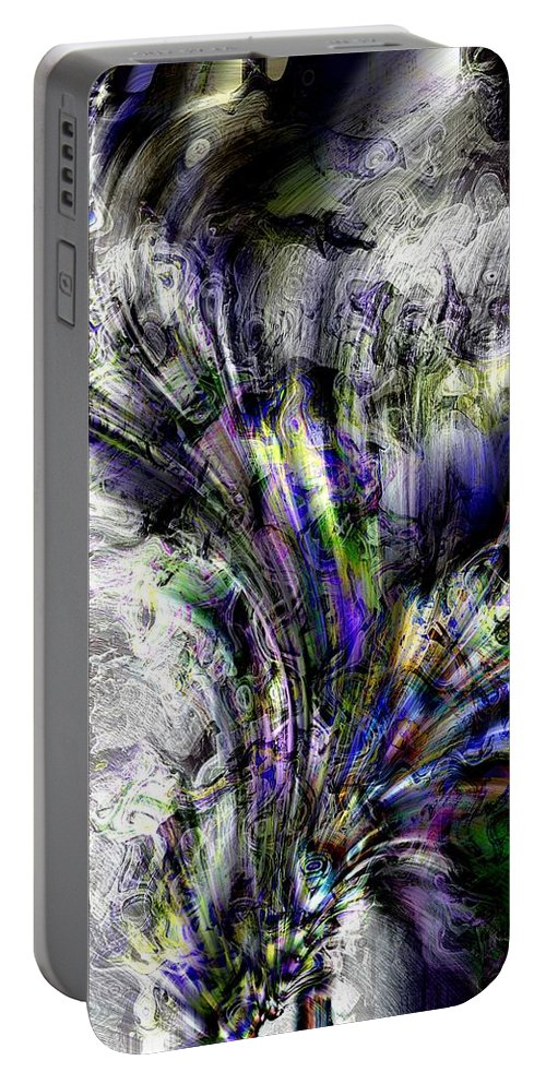 Abstract Portable Battery Charger featuring the photograph Creative Flow by Richard Thomas