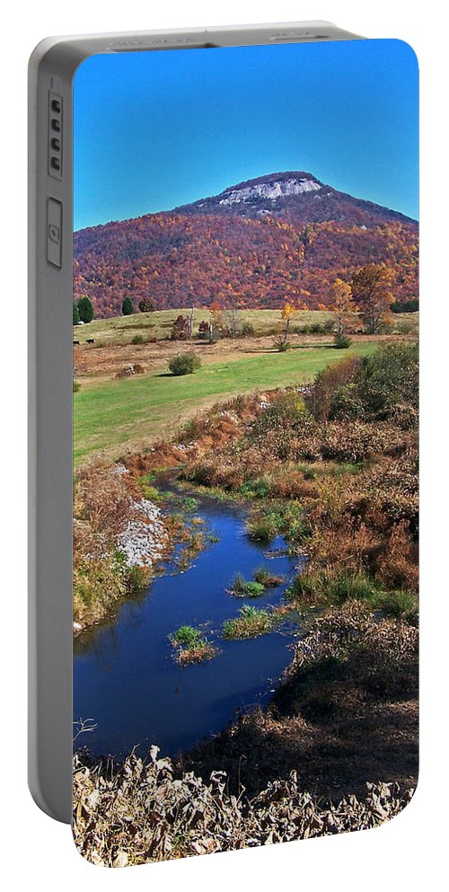 Creeks Portable Battery Charger featuring the photograph Creek In The Valley by Jennifer Robin
