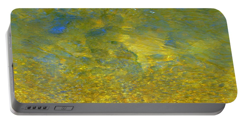 Creek Portable Battery Charger featuring the photograph Creekwater Abstract by Deborah Crew-Johnson