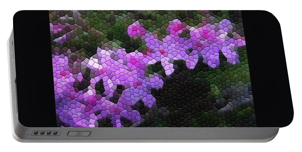 Mosaic Portable Battery Charger featuring the photograph Creeping Phlox by Kathryn Meyer