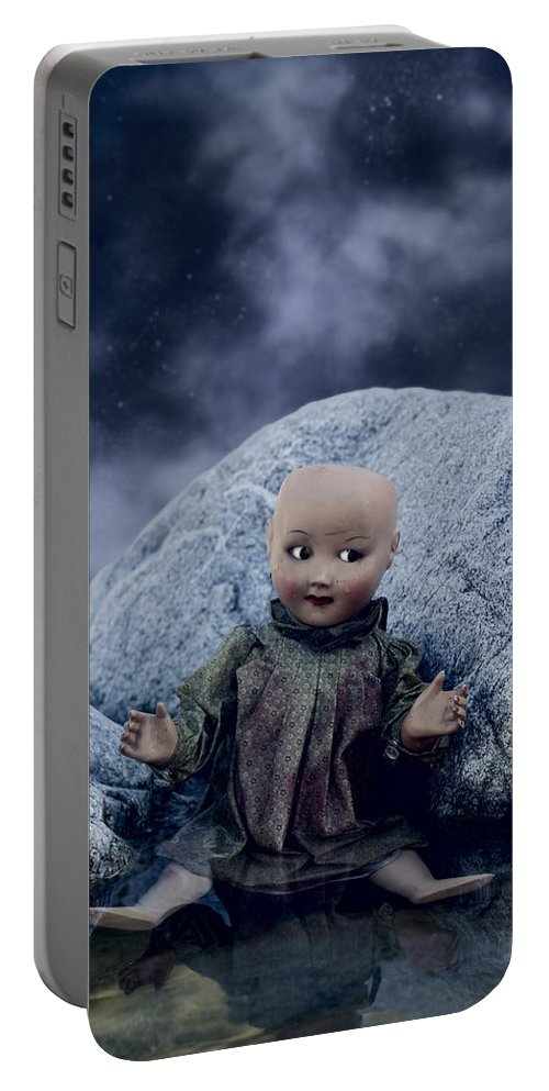 Doll Portable Battery Charger featuring the photograph Creepy Doll by Joana Kruse