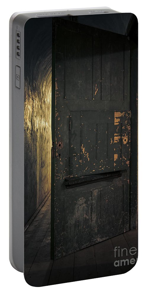 Criminal Portable Battery Charger featuring the photograph Creepy Door by Svetlana Sewell