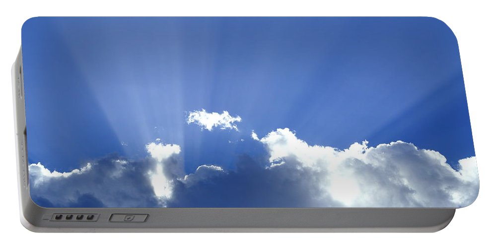 Crepuscular Rays Portable Battery Charger featuring the photograph Crepuscular Rays 2am-005269 by Andrew McInnes