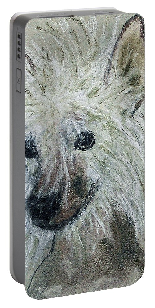 Chinese Crested Portable Battery Charger featuring the drawing Crested Star by Cori Solomon
