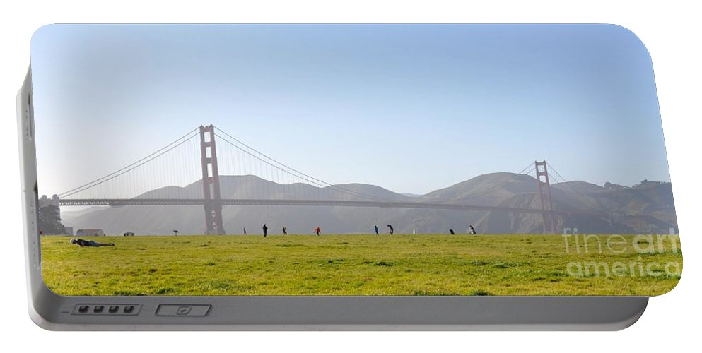San Fransisco Portable Battery Charger featuring the photograph Crissy Field by Christina McKinney